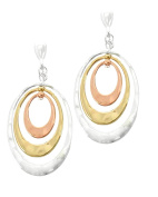 Jewellery Ant Hony High-Quality Long Hoop Earrings – Silver Plated Plated Rose Gold 4.7 cm Long