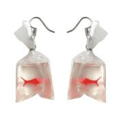 Bluelans Funny Goldfish Water Bag Shape Dangle Hook Earrings Charm Women Jewellery Gift