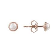 Petite Stud Earring Rosegold White Pearl