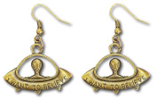 """UFO """"I Want to Believe"""" Spaceship Alien Planet Dangle Earrings by Pashal …"""