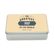 Pap Gift, Greatest Pap, Perfect Pap Christmas Present or Birthday Tin