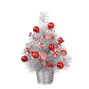 Covermason DIY Artificial Flocking Christmas Tree, Holiday Xmas Window Home Office Shop Decor