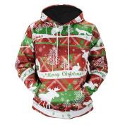 Christmas Lover's Hoodie, Hirolan christmas hooded sweatshirt jumper pullover shirt christmas dress up novelty Unisex Autumn Winter Xmas Printed Long Sleeve Hoody Outwear Coat Jacket Parka Overcoat