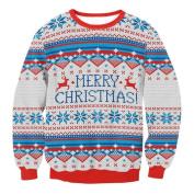 novelty christmas decorations sale clearance Hirolan unisex christmas sweatshirt jumper christmas pullover sweatshirts x-mas shirt christmas gifts vintage christmas dress up long sleeve O-Neck blouse