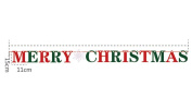 "Sixcup 2.9 M/9 ft 15cm ""Merry Christmas"" Decoration Home Bunting Banner Garland Props Flag"