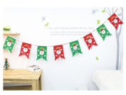 Sixcup 8pc Christmas Decoration Home Bunting Banner Garland Props Snowman Flag
