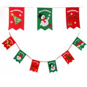 Sixcup 6pc Christmas Decoration Home Bunting Banner Garland Props Flag