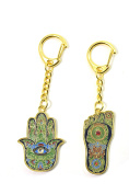 Feng Shui HAMSA HAND AND BUDDHA FOOT Key chain