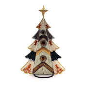 Christmas Decoration Wood with Tray and Mother of Pearl