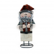 Santa Wood White with Tin