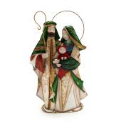 Mary and Joseph Metal Figurine