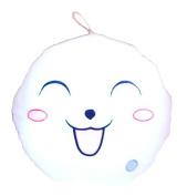Good Night Luminous Music Light Soft Smile Round Cushion Stuffed Toy Doll