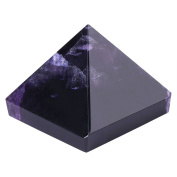 Amethyst Pyramid, Purple Crystal Pyramid Figurine, Egyptian Pyramids Figurine Statue Model, Feng Shui Crafts Pyramids Gift