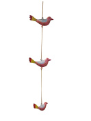 Strung Jewellery Tie on 3 strand Bird Decoration Hanging Window Decoration Garden Decoration Metal Hand Painted Length Approximately 82 cm/Gall & Zick