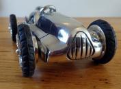 Large Classic Racing Car - 19cm metal sculpture - desk ornament