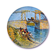 LGK & FA European Style Decorative Wall Painting Home Furnishing Background Van Gogh Disc Art Hanging Plate Plate Ceramic Plate 003 25cm