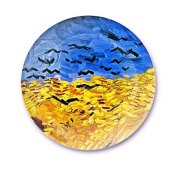 LGK & FA European Style Decorative Wall Painting Home Furnishing Background Van Gogh Disc Art Hanging Plate Plate Ceramic Plate 014 25cm