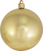Christmas By Krebs 12cm Shatterproof Ball (1), Gilded Gold, 10cm - 1.9cm