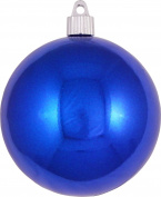 Christmas By Krebs 10cm Shatterproof Ball (1), Azure Blue, 10cm