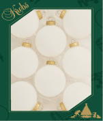 Christmas By Krebs Frost 6.7cm Balls with Gold Crown Caps (8), Blue