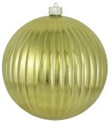Christmas By Krebs 20cm Shatterproof Ripple Ball (1), Gilded Gold, 20cm