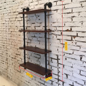 FGSGJ Creative Personality Industrial Style Wall Hanging Storage Rack Living Room Home LOFT Vintage Wrought Iron Racks Large Pendant