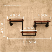FGSGJ Creative Vintage Wrought Iron Home Shelf LOFT Industrial Style Bar Restaurant Wall Shelves
