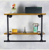 Wall Decorations Retro Water Pipe Racks Iron Clothing Store Wall Display Stand 100*30*55cm