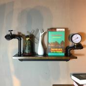 Retro Industrial Solid Wood Walls Wall Hose Shelf Bookshelf Living Room Bar Partition Shelf Flower Stand