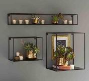 Wall Shelf / Modern Simple Solid Wood Wall-mounted Bedroom Living Room Shelves.