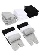 6 Pairs Unisex Tabi Flip Flop Socks Geta Socks Cotton Split Toe Tabi Socks Elastic for Women and Men