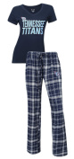"Tennessee Titans NFL ""Game Day"" Women's T-shirt & Flannel Pyjama Sleep Set"