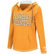 "Tennessee Volunteers Women's NCAA ""Spike"" V-neck Pullover Hooded Sweatshirt"