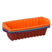 Bovake Silicone Rectangle Non Stick Bread Loaf Cake Mould Bakeware Baking Pan Oven Mould