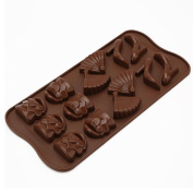 Espeedy Shoes Bag Shape Mould Silicone Biscuit Candy Chocolate Cake Mould DIY Baking Tool