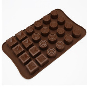 Espeedy 24 Cavity Silicone Tray Mould Chocolate Candy Ice Jelly Mould DIY Cake Kitchen Tools