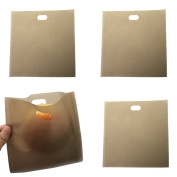 BESTOMZ 4 Pack Toaster Bags Non Stick Reusable and Heat Resistant