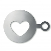 Heart shape coffee stencil - matt silver