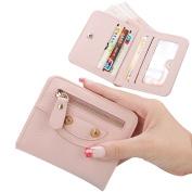 Girls Mini Purse,Bonice Wallet Zipper Pocket Coin Pouch ID Holder Kids Purse - Pink