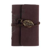 Fashion Practical Golden Leaf Leaves Women Bovake Brown Leather Business Credit ID Card Holder Case Wallet CO