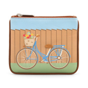 Y by Yoshi Bicycle Zip Top Leather Purse