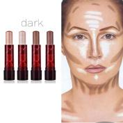 Gaddrt 4PCS Highlight & Contour Stick Beauty Makeup Face Powder Cream Shimmer Concealer