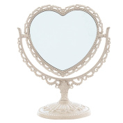 Makeup Mirror, Tabletop Vanity Mirror Double Sided Magnifying Makeup Mirror with 360 Degree Rotation