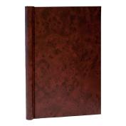 A4 Springback Folder Walnut pattern cover- Wine
