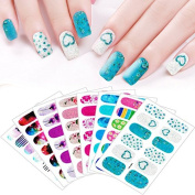 8 Sheets Glitter Full Cover Nail Art Sticker Beauty DIY Manicures Tool Decal Fashion