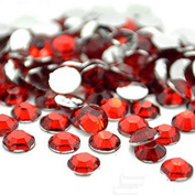 Kingwin 1440pcs Round Flat Back Rhinestone Brilliant Beads DIY Jewellery Accessories 4mm - Red