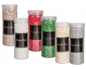 Decorative Coarse Grained Sand Assorted Colours Suitable For Many Decorative purposes (6 x 400 Grammes ) REF003