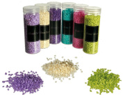 Decorative Coarse Grained Sand Assorted Colours Suitable For Many Decorative purposes (6 x 400 Grammes )REF002