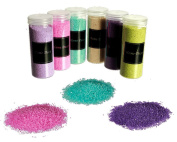 Decorative Fine Grained Sand Assorted Colours Suitable For Many Decorative purposes (6 x 400 Grammes )REF001