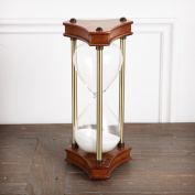 creative gift the hourglass timer Oak arts and crafts ornaments 30 60 minutes of solid wood the hourglass-D